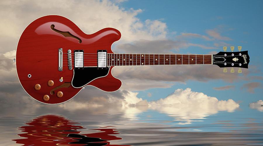 Es-335 Digital Art - Es 335 Guitar by WB Johnston