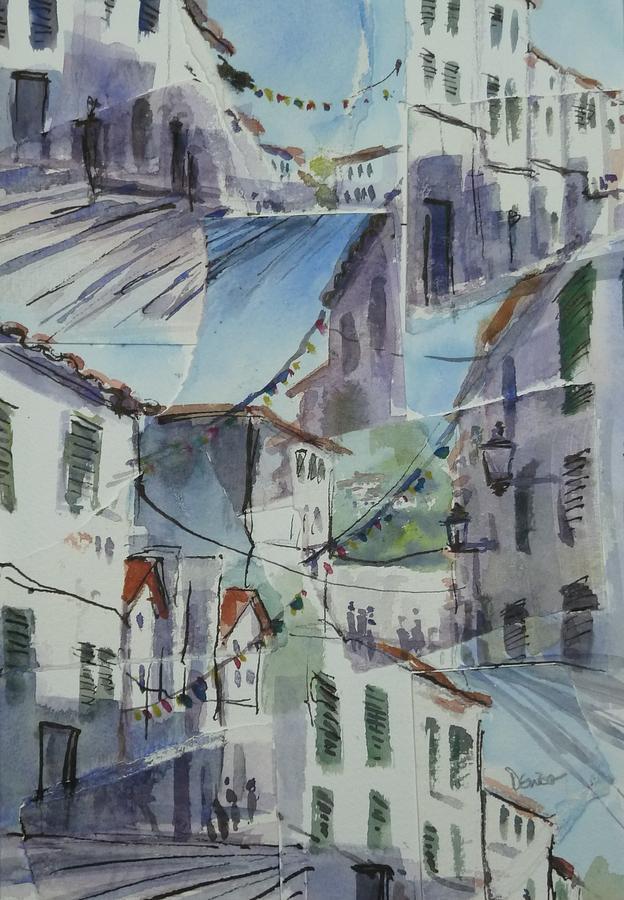 Landscape Painting - Es Migjorn Medley by Denise Allen