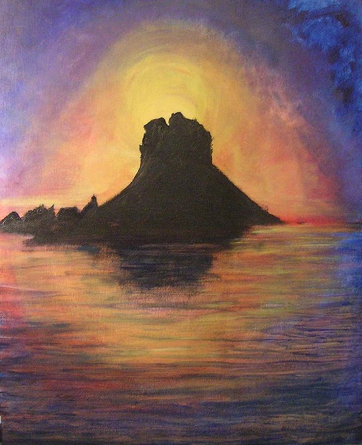 Sunset Painting - Es Vedra Sunset I by Lizzy Forrester