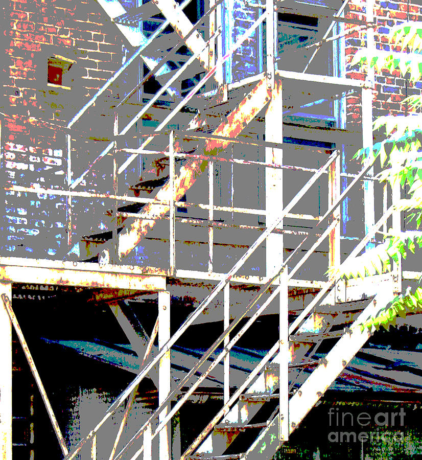 Stairs Photograph - Escape 1 by Gary Everson