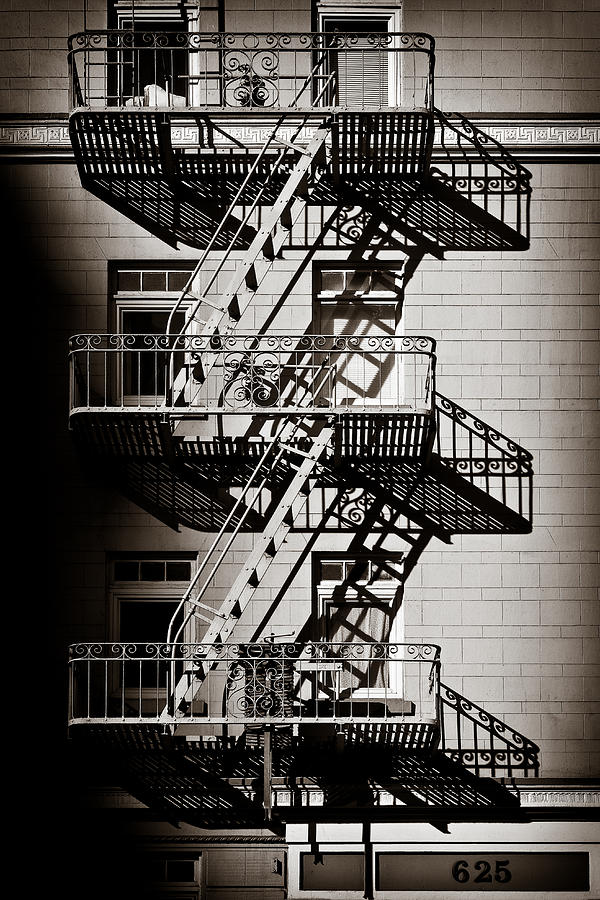 Fire Escape Photograph - Escape by Dave Bowman