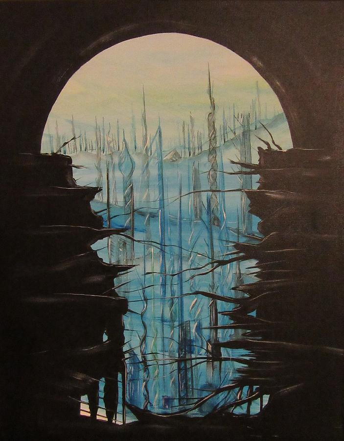 Towers Painting - Escape by J Edward Neill