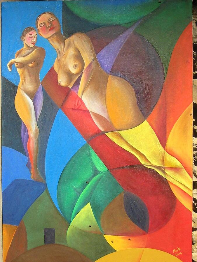 Nudes Painting - Escape by Mak Art