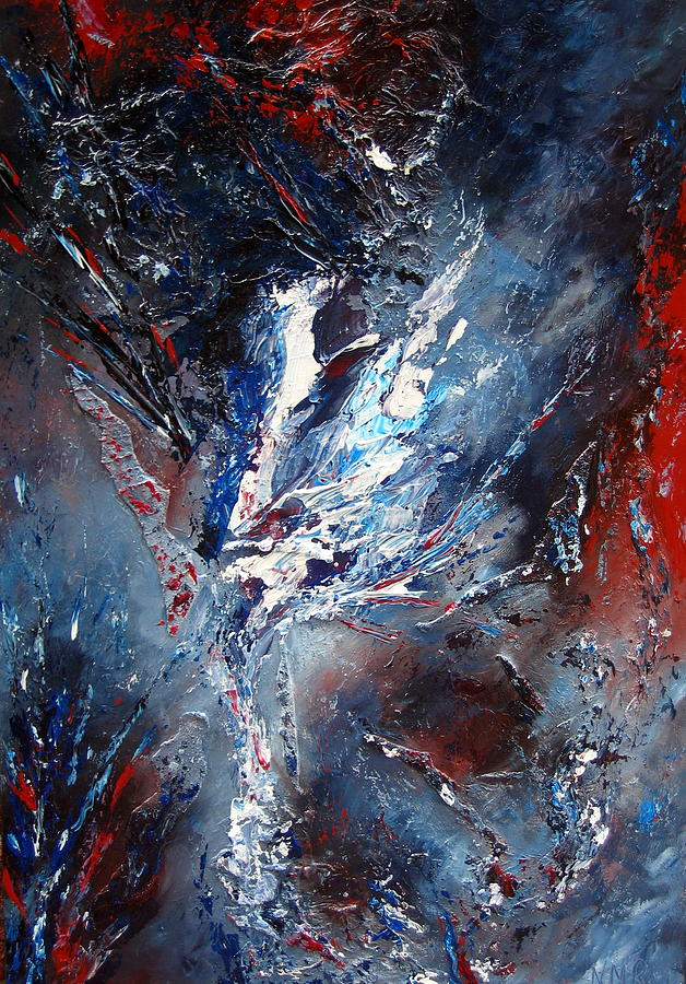 Abstract Painting - Escape by Nathalie Morin Rousseau