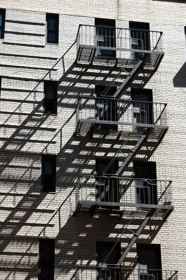 Fire Escape Photograph - Escape The Shadows by Jeff Porter