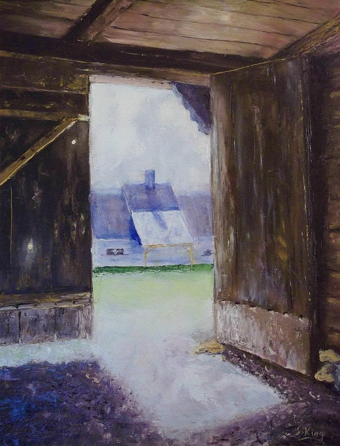 Shed Painting - Escape The Sun by Stephen King