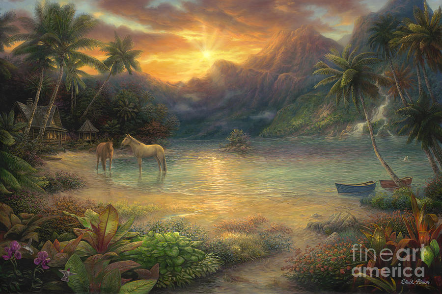 Christian Lassen Painting - Escape to Tranquility by Chuck Pinson