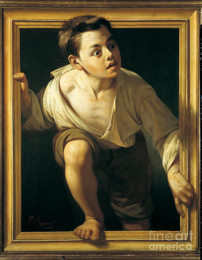 Painting Painting - Escaping Criticism 1 by Pere Borrell Del Caso