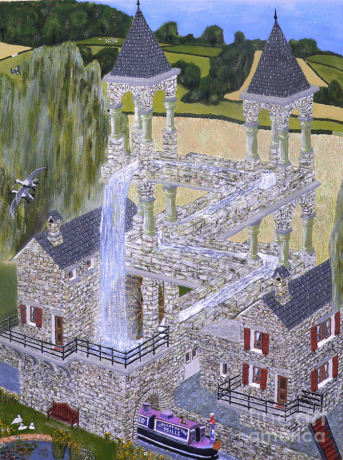 Escher's Mill Landscaped and painted by Eric Kempson by Eric Kempson