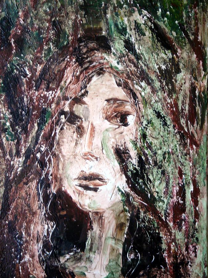 Portrait Painting - Escondite Hiding Place by Jenni Walford