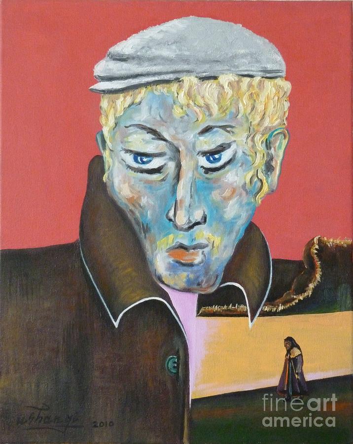 Poet Painting - Esenin by Ushangi Kumelashvili