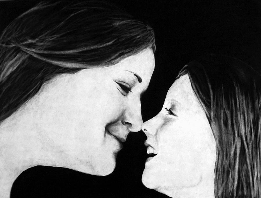 Mother Drawing - Eskimo Kisses by Corina Bishop
