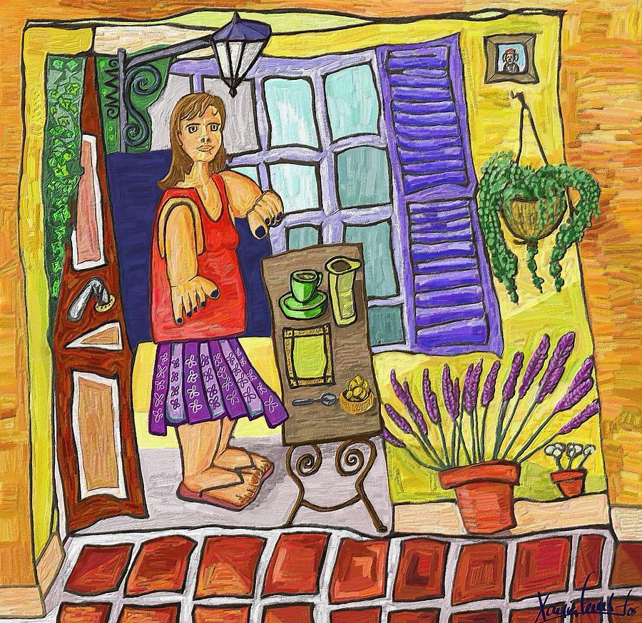 Still Life Painting - Esmorzant En Provence by Xavier Ferrer