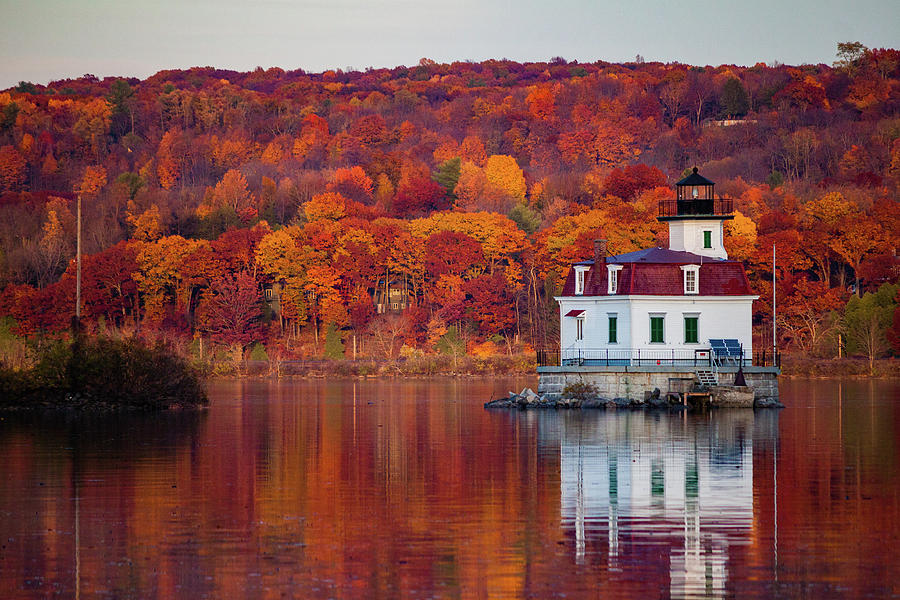 Lighthouse Photograph - Esopus Lighthouse In Late Fall #1 by Jeff Severson