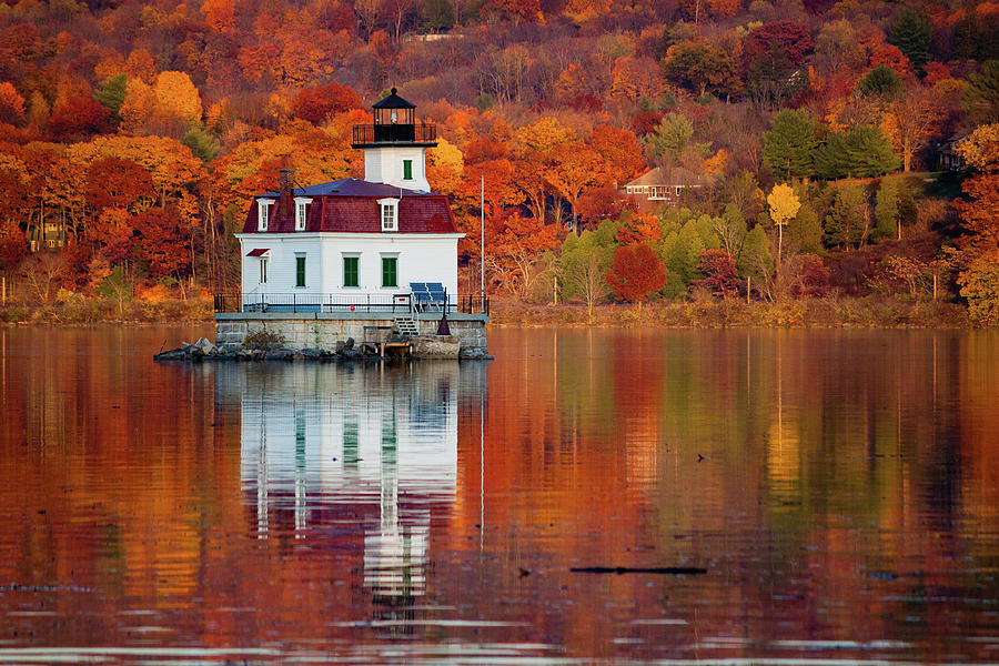 Lighthouse Photograph - Esopus Lighthouse in Late Fall #2 by Jeff Severson