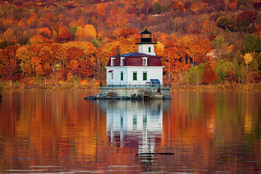 Lighthouse Photograph - Esopus Lighthouse In Late Fall #3 by Jeff Severson