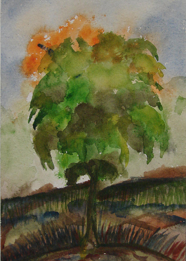 Tree Painting - Esoteric Tree by Aim to be Aimless
