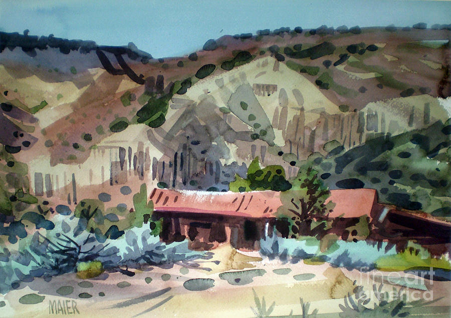 New Mexico Painting - Espanola On The Rio Grande by Donald Maier