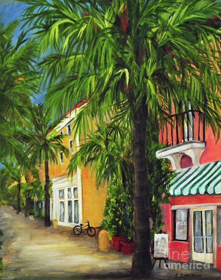 South Painting - Espanola Way In Sobe by Carolyn Shireman