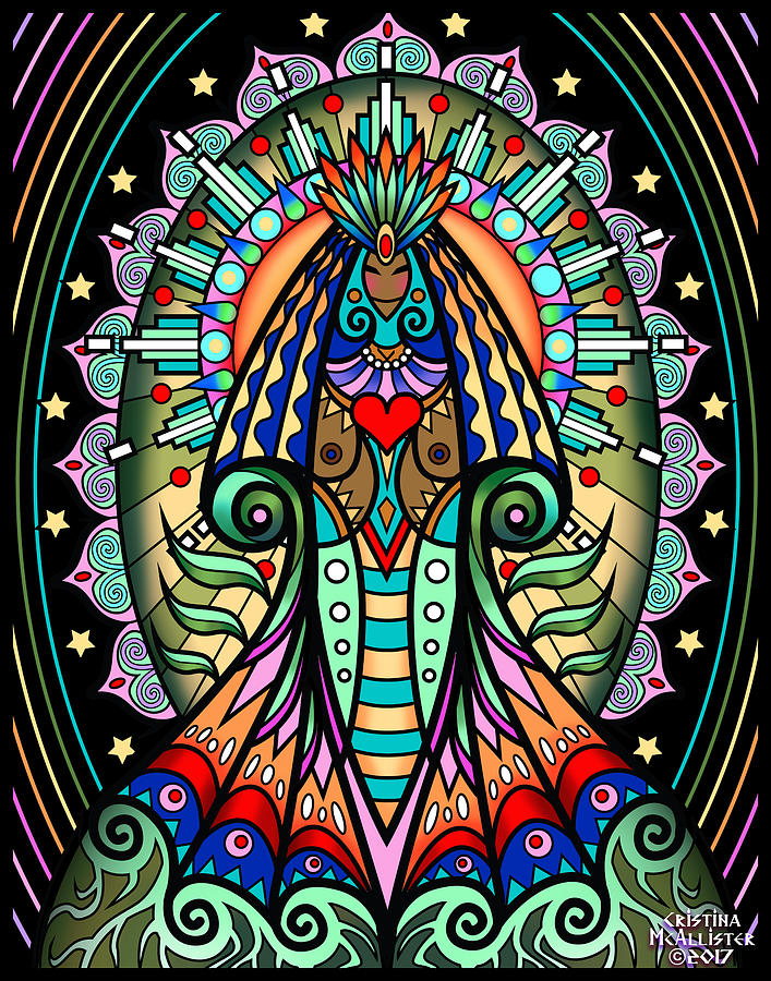 Goddess Digital Art - Espiritu 1- Goddess by Cristina McAllister