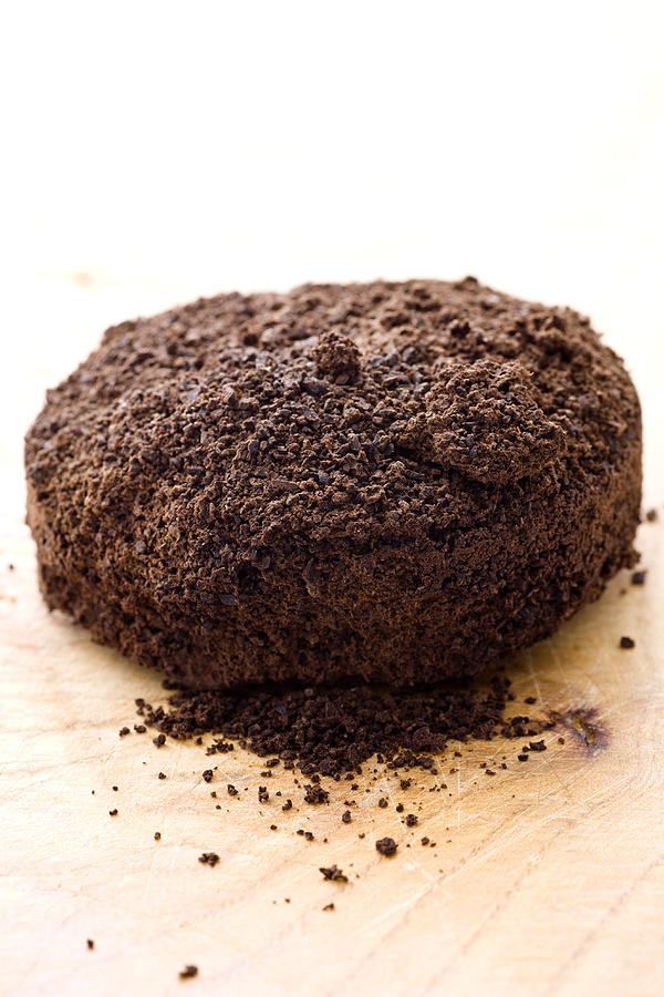 Espresso Photograph - Espresso Coffee Grounds by Frank Tschakert