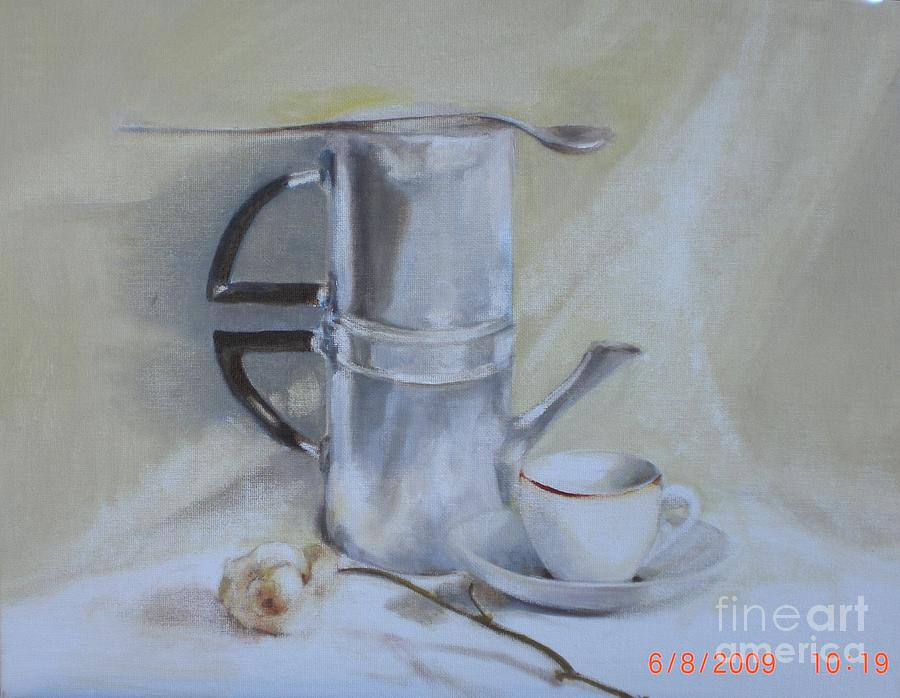 Still Life Painting - Espresso For One          Copyrighted by Kathleen Hoekstra