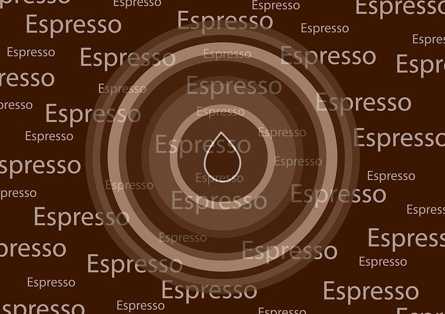 Coffee Art Painting - Espresso by Frank Tschakert