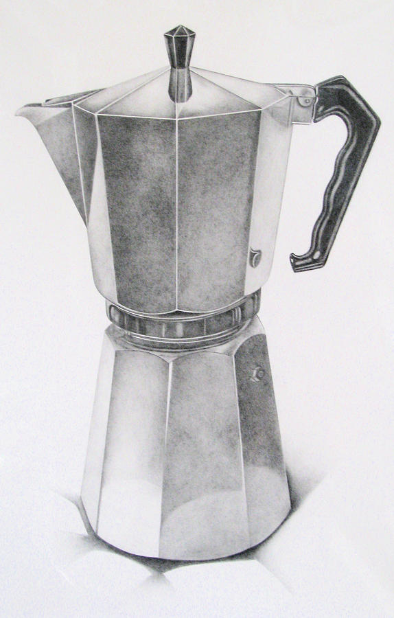 Coffee Maker Drawing ~ Espresso maker drawing by ferris cook