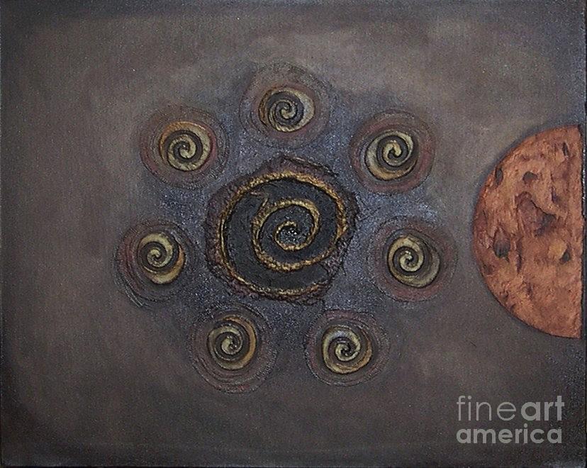 Sets Painting - Espresso Roast by Marlene Burns