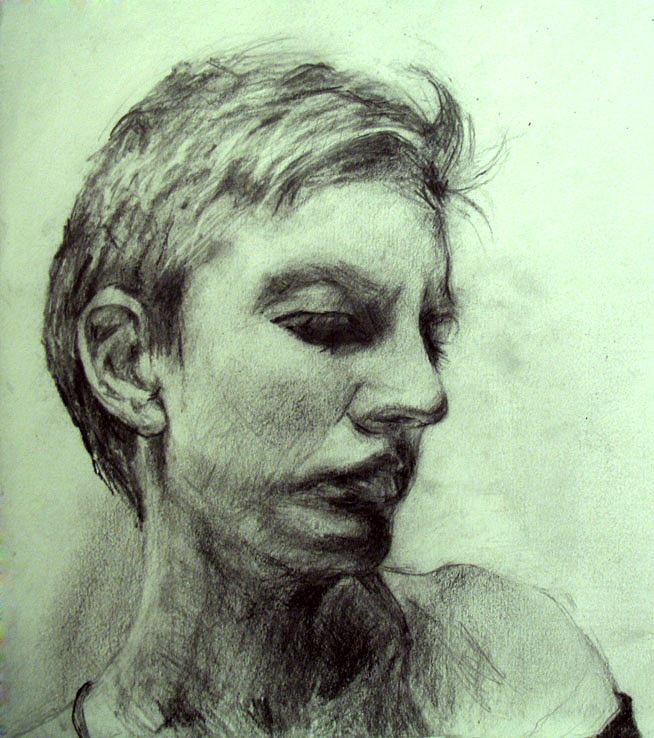 Portrait Drawing - Esquisse for portrait of Clara 4 by Yuki Komura