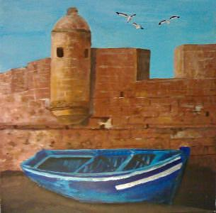 Boat Painting - Essaouira Morocco by Ahmed Ait Addi