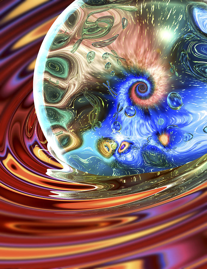 Essence Digital Art - Esscence Of Life by Sandy Ostroff
