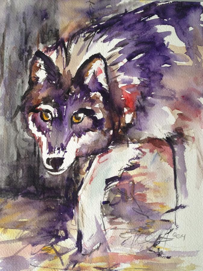 Wolf Painting - Essential by Kathryn Armstrong