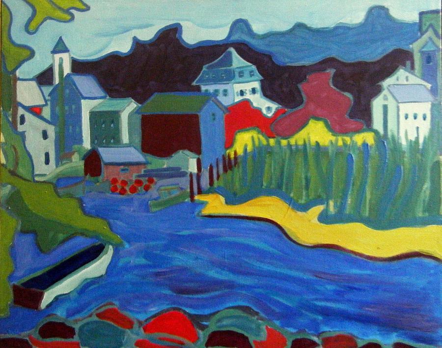 Essex Painting - Essex River by Debra Bretton Robinson