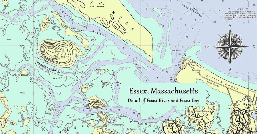 Essex River detail by Jeannine Selig