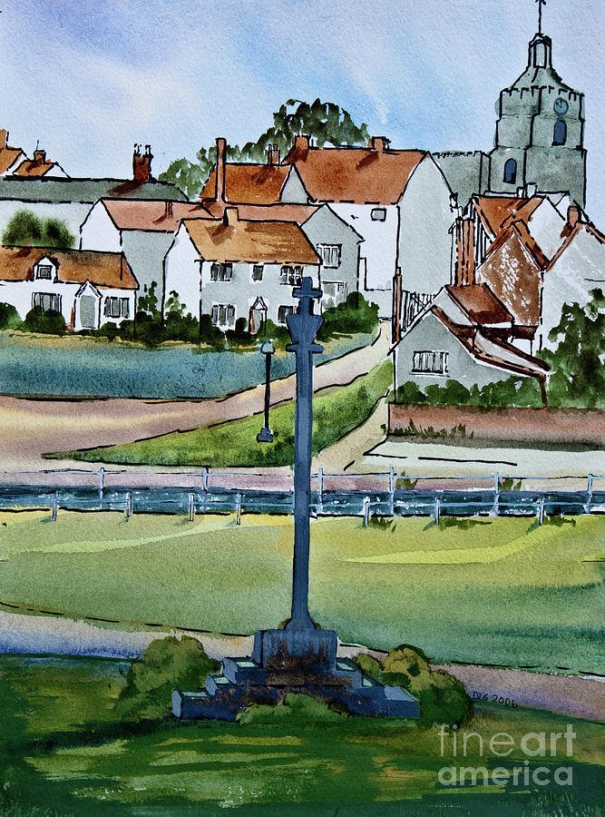 Village Painting - Essex Village In England by Dianne Green
