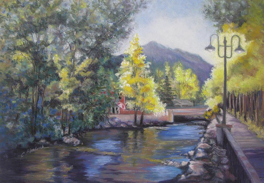 Landscape Pastel - Estes Park Riverside by Carole Haslock