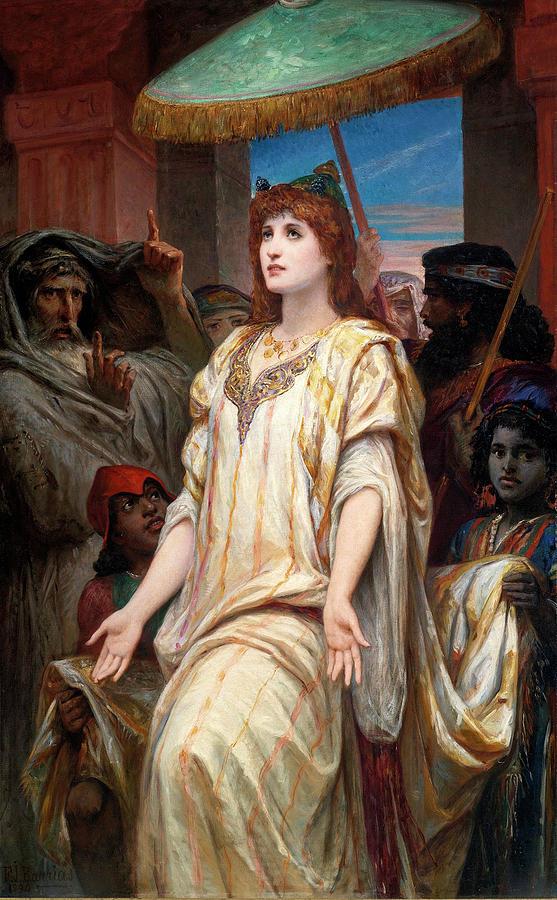 Esther Before Ahasuerus Painting - Esther Before Ahasuerus by Felix Joseph Barrias