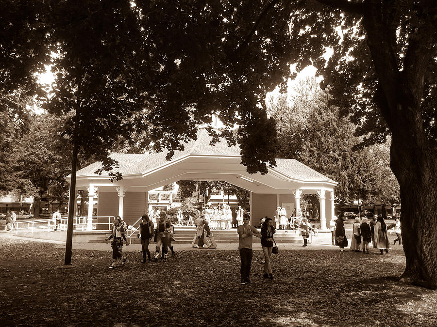 Esther Short Park Stage Sepia Photograph