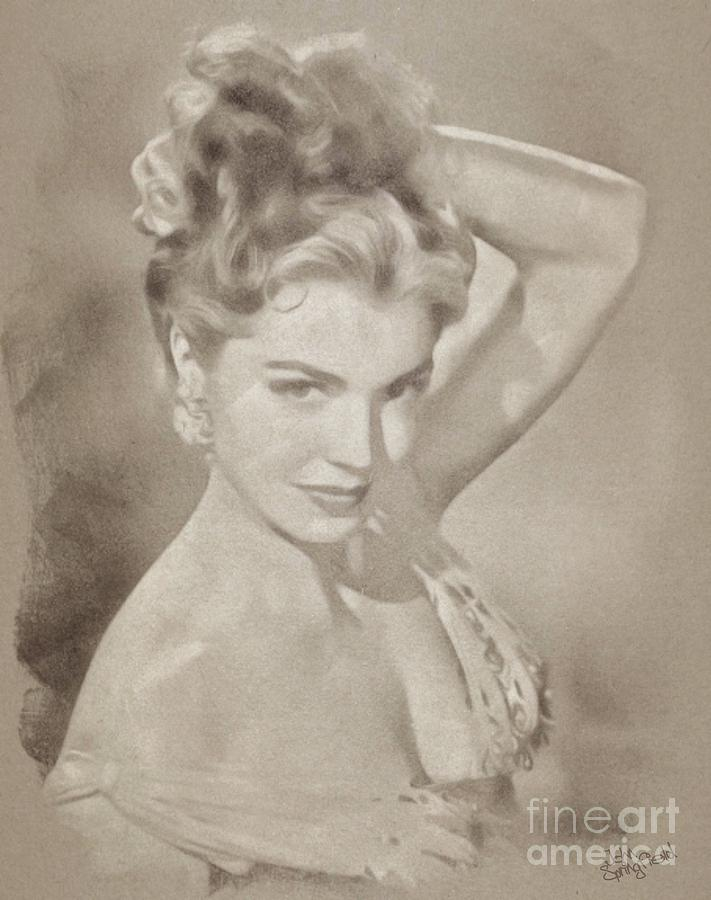 Esther Williams, Vintage Actress Drawing