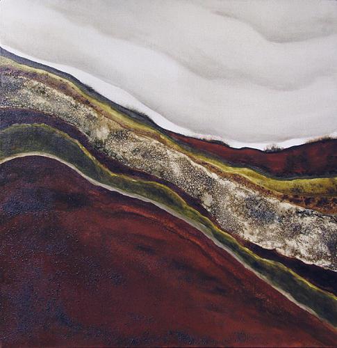 Landscape Painting - Estratos by Magali  Dalmau