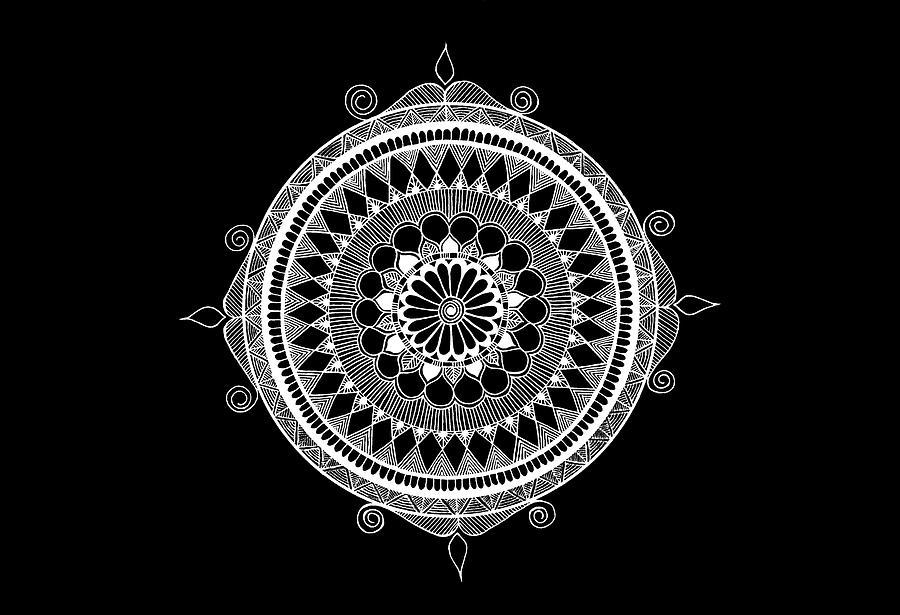 Mandala Mixed Media - Estrella Mandala by Anmol Jauher