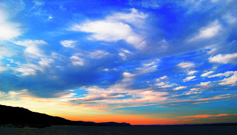 White Clouds Photograph - Estuary Skyscape by Roger Bester