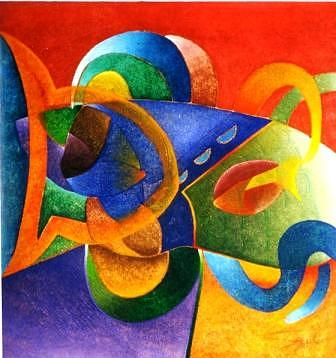 Painting Painting - Estudio Del Color 2 by Aguilar Martinez