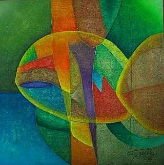 Painting Painting - Estudio Del Color by Aguilar Martinez