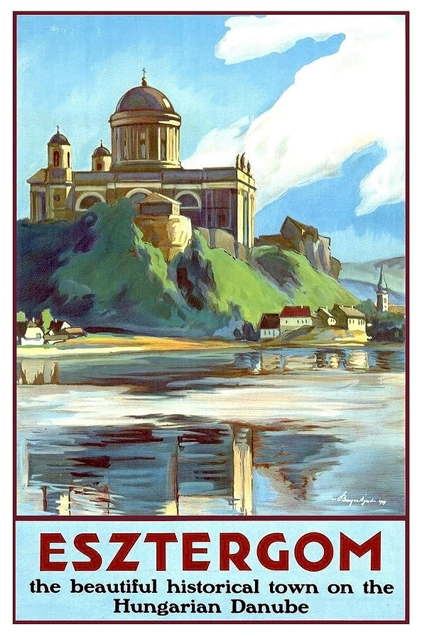 Esztergom Painting - Esztergom, Beautiful City On Danube River, Hungary,  by Long Shot
