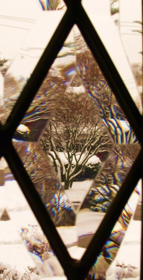 Abstract Photograph - Etched Window View by Anna Villarreal Garbis