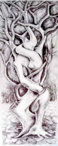 Drawing Drawing - Eternal Embrace by Abdelfattah Ameen