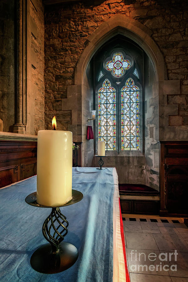 Church Photograph - Eternal Flame by Adrian Evans