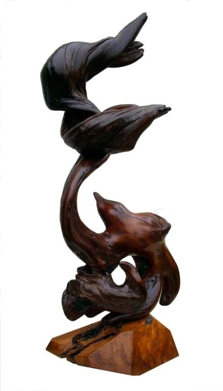 Wood Carvings Sculpture - Eternal Flame by Daryl Stokes